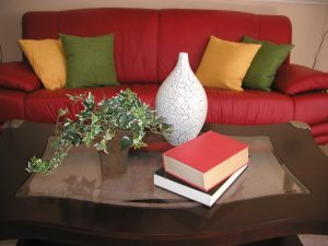 Coordinate throw pillows with bold colors