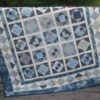 Supreme Accents Blue Diamonds Handmade Quilt