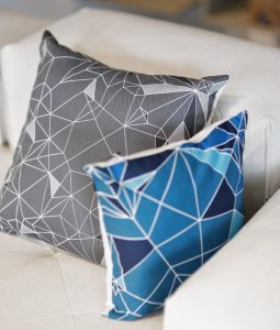 Update your living room with throw pillows