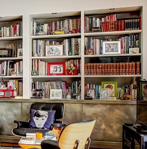 Bookshelves are a fabulous way to update a living room on a budget