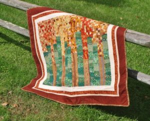 Supreme Accents Trees Handmade Quilt