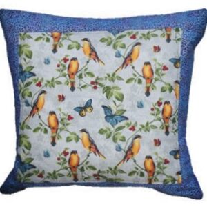 Supreme Accents Birds and Butterflies Accent Pillow Blue