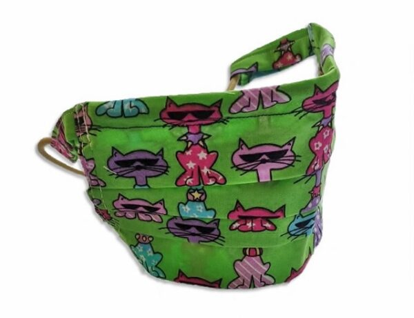 Supreme Accents Kids Sassy Cats Face Mask w Loops