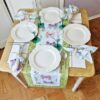 Supreme Accents Whispering Butterflies Green 51 inch Table Runner