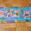 Supreme Accents Kaleidoscope Splatter Blue Table Runner 44 inches Long