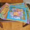 Supreme Accents Kaleidoscope Splatter Blue Place mat and Napkin Set of 4
