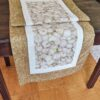 Supreme Accents Garlic Golden Brown Table Runner 51 inches