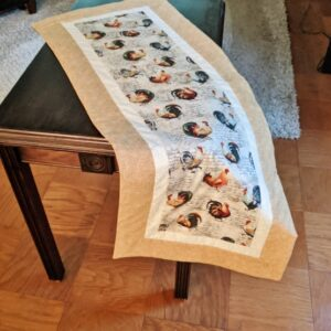 Supreme Accents Hens and Rooster Sand Table Runner 38 inches
