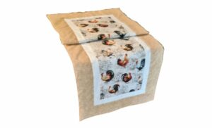Supreme Accents Hens and Rooster Sand Table Runner 38 inches long
