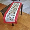 Supreme Accents Hens and Roosters Brick Red Table Runner 38 inches Long