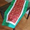 Supreme Accents Strawberry Patch Green 51 inch Table Runner