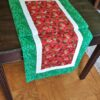 Supreme Accents Strawberry Patch Green 51 inch Table Runner 42 inches Long