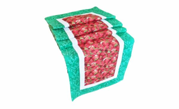 supreme accents Strawberry Patch Green 71 inch Table Runner