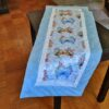 Supreme Accents Whispering Butterflies Sky Blue 51 inch Table Runner