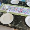 Supreme Accents Blooming Flowers Table Runner Soft Green 51 inches