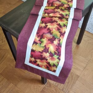 Supreme Accents Fall Leaves Brick Red Table Runner 71 inches