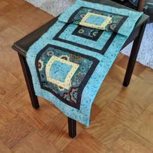 Supreme AccentsGlory Teal Table Runner 44 Inches