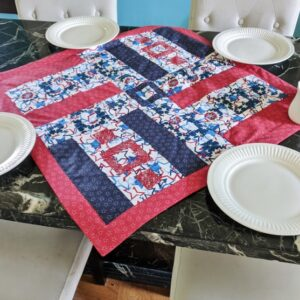Supreme Accents Hamilton Red Table Runner 31 inch square