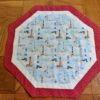 Supreme Accents Lighthouse Star Red Octagon Table Runner 25 inches