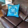 Supreme Accents Mystique Blue Accent Pillow 20 inch Square
