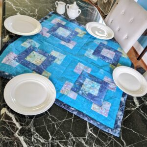 Supreme Accents Mystique Blue Table Runner 36 inch Square