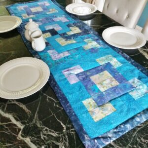 Supreme Accents Mystique Blue Table Runner 60 inches