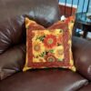 Supreme Accents Sunny Flowers Accent Pillow 20 inch Square