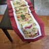 Supreme Accents Supreme Accents Wine Time Burgundy Table Runner 71 inches