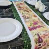Supreme Accents Wine Time Juniper Green Table Runner 51 inches Long