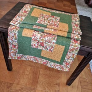 Supreme Accents Autumn Glory Green Table Runner 67 inches