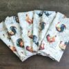 Supreme Accents Hens and Rooster Napkin set of 6