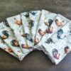 Supreme Accents Hens and Rooster Napkin set of 8