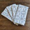 Supreme Accents Blue & White Bloomsy Napkin Set of 4