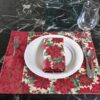 Supreme Accents Classic Poinsetta Place mat and Napkin Set of 4
