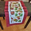Supreme Accents Christmas Ornaments Burgundy Table Runner 97 inches