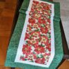 Supreme Accents Christmas Poinsettias Green 71 inch Table Runner