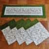 Supreme Accents Garlic Green Table Runner and Place mat Set