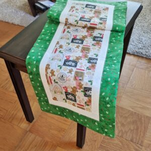 Supreme Accents Making Gingerbread Green Table Runner 51 inches
