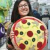 Supreme Accents Pizza Pillow Large