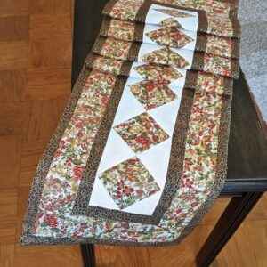 Supreme Accents Autumn Delight Brown Quilted Table Runner 90 inches