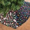 Supreme Accents Candy & Holly Christmas Tree Skirt 60 inches