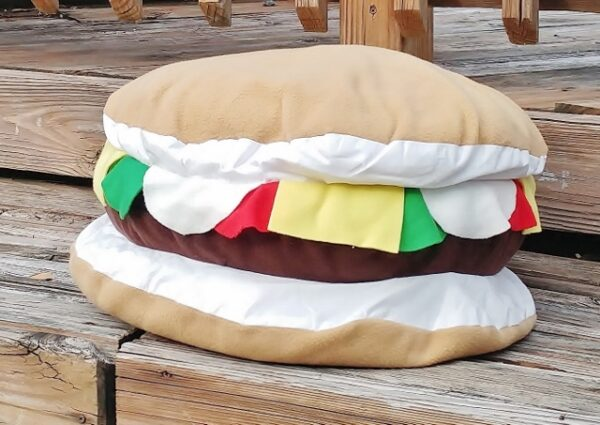 Supreme Accents Large Cheeseburger Pillow