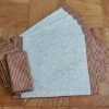 Supreme AccentsBurgundy and Gold Stripe Napkin Place mat and Napkin Set of 6