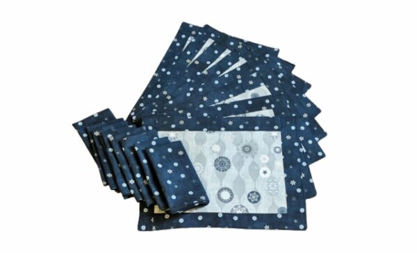 Supreme Accents Winter Snow Place mat and Napkins Set of 8