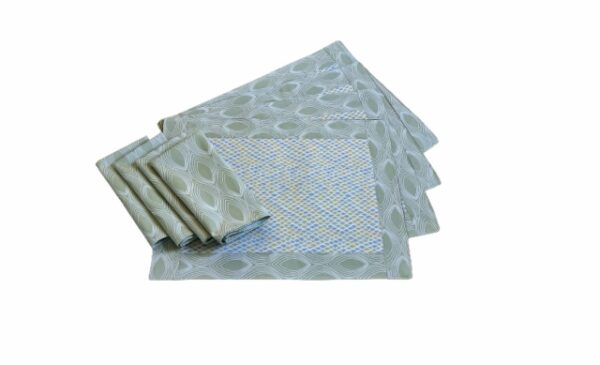 Supreme Accents Modern Wave Place mat and Napkin Set of 4