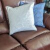 Supreme Accents Silver Blue Leaf Duo Accent Pillow