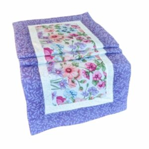 Supreme Accents Blooming Flowers Heather Table Runner 38 inches