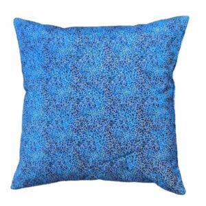 Supreme Accents Blue Leaf Accent Pillow