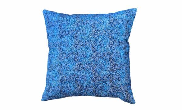 Supreme Accents Blue Leaf Accent Pillow