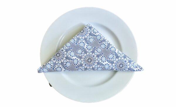 Supreme Accents Blue & White Bloomsy Napkin